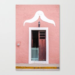Pink House in Mexico Canvas Print