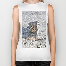 Impressive Animal - sketchy Dog Biker Tank