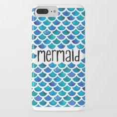Mermaid Scales in Blue iPhone 7 Plus Slim Case