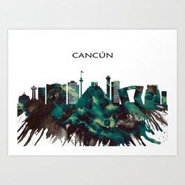 Cancun Skyline Art Print