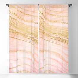 Go with the waves Blackout Curtain