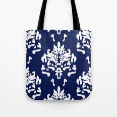SOPHISTICATED- NAVY IKAT Tote Bag