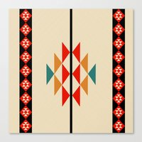 fabric Canvas Prints featuring fabric by zenaadhami