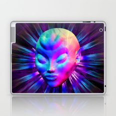 Alien Meditation on Rainbow Colors Laptop & iPad Skin