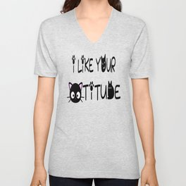 I Like Your Cattitude Unisex V-Neck