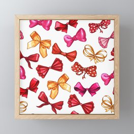 Colorful Bows Repeating Pattern Framed Mini Art Print