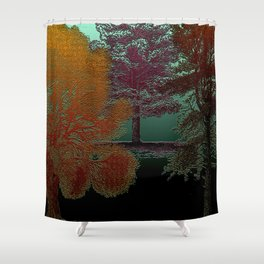 Deep Into The Forest - Trees Design Shower Curtain