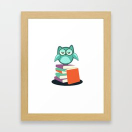Introvert Books Readers Bookworms Reading Introversion Literature Gift Framed Art Print