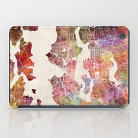 seattle iPad Cases featuring Seattle by MapMapMaps.Watercolors