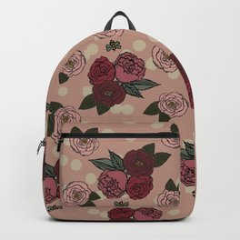 Peonies and Polka Dots Backpack