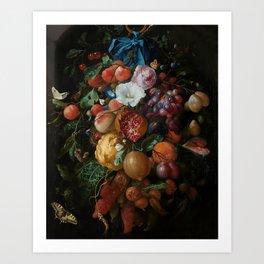 Antique Botanical IV [antique painting remixed] Art Print