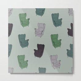 Seventies Armchair Pattern - Version 3 #society6 #seventies Metal Print