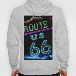 Route 66 neon sign Hoody