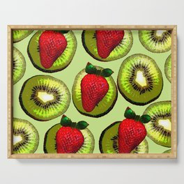 KIWI AND STRAWBERRY COCKTAIL Serving Tray