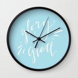 Glory and Grace // Blue Wall Clock