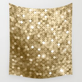 Gold glitter texture Wall Tapestry