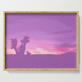 Lavender Joshua Sunset - Pop_Art Serving Tray
