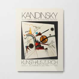 Wassily Kandinsky. Exhibition poster for the Kunsthaus in Zurich, 1984. Metal Print