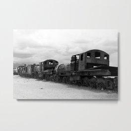 Train Graveyard, Uyuni, Bolivia Metal Print