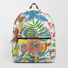 Flowers and Birds of Paradise Backpack