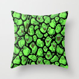Fifty shades of slime. Throw Pillow