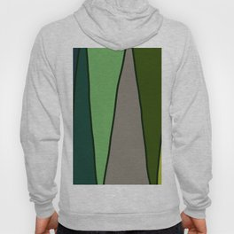 Green Abstract Pattern Turtle Hoody