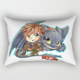 Httyd 2 - Chibi Hiccup and Toothless Rectangular Pillow