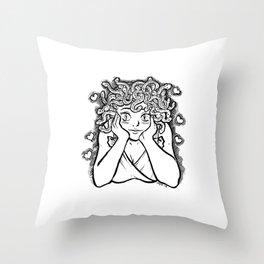 Medusa's Gaze Throw Pillow