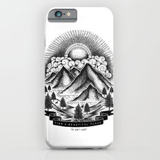 FIND A BEAUTIFUL PLACE TO GET LOST (White) iPhone 6s Slim Case