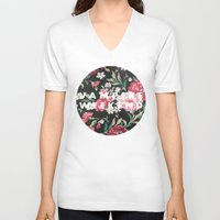 vampire weekend V-neck T-shirts featuring Vampire Weekend Floral logo by Elianne