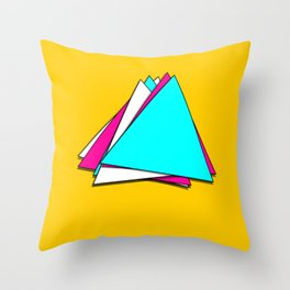 Stack of Triangles Throw Pillow