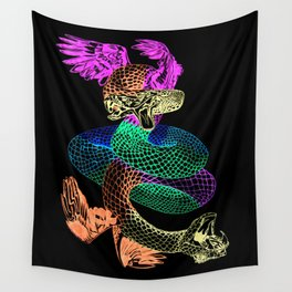 Feathered Serpent Wall Tapestry
