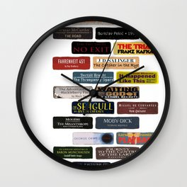 Book Bricks Wall Clock