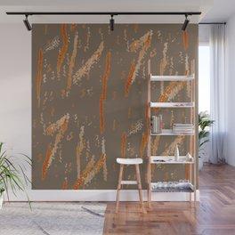Orange Squiggles Wall Mural