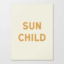 Sun child Canvas Print