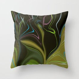 New Growth Abstract Throw Pillow