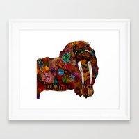 walrus Framed Art Prints featuring Walrus by Holly wilson