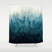 mountains Shower Curtains featuring The Heart Of My Heart // So Far From Home Edit by Tordis Kayma