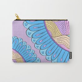 Pinky Inky Flowers Carry-All Pouch