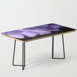 Ultra violet purple flower petals black Coffee Table