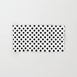 Polka Dots (Black/White) Hand & Bath Towel