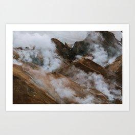 Kerlingjarfjöll smoky Mountains in Iceland - Landscape Photography Art Print