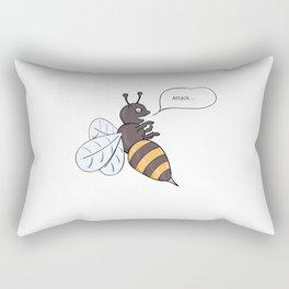 aggressive wasp attacking Rectangular Pillow
