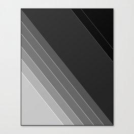 Black and white geometric pattern Canvas Print