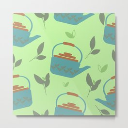 pattern for tea lovers Metal Print