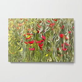 Poisoned Poppies Metal Print