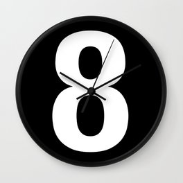 Lucky number: 8 Wall Clock