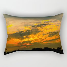 Beautiful Sunset Landscape Rectangular Pillow