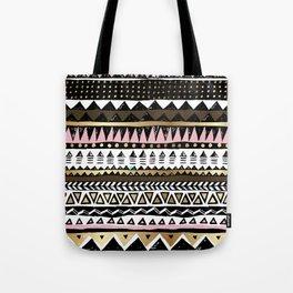 Boho Geometric Stripe Tote Bag