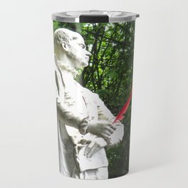 Statue and feather Travel Mug
